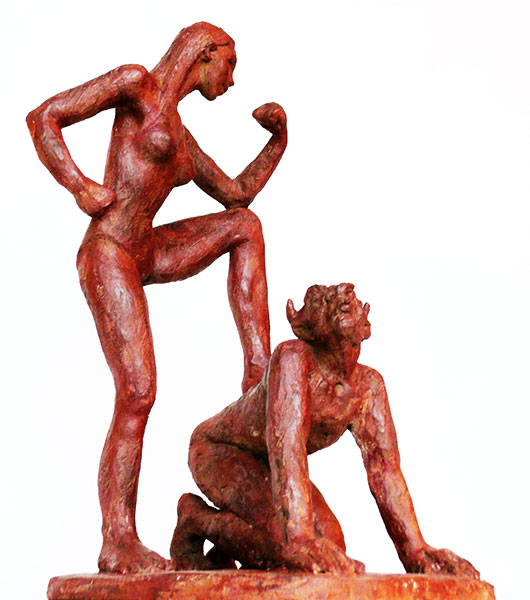 sculpture-marie-therese-tsalapatanis-Violences Conjugales