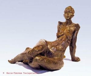 sculpture-marie-therese-tsalapatanis-figure-allonge