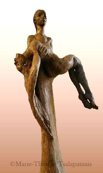 sculpture-marie-therese-tsalapatanis-porteuse-d'ange