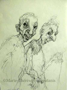 dessins-sculpture-marie-therese-tsalapatanis-les vieux