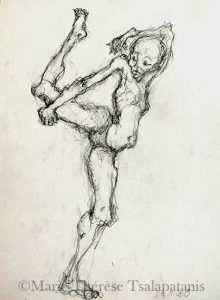 dessins-sculpture-marie-therese-tsalapatanis-contorsion