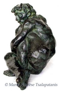 sculpture-marie-therese-tsalapatanis-Penseur
