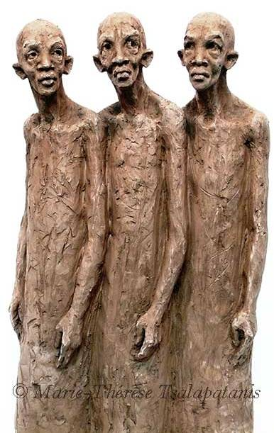 sculpture-marie-therese-tsalapatanis-guerriers1